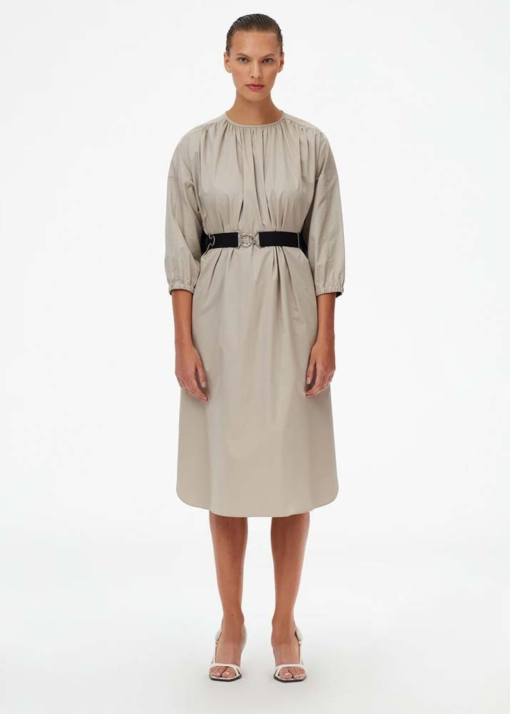 TIBI _ Eco Poplin Cape Dress